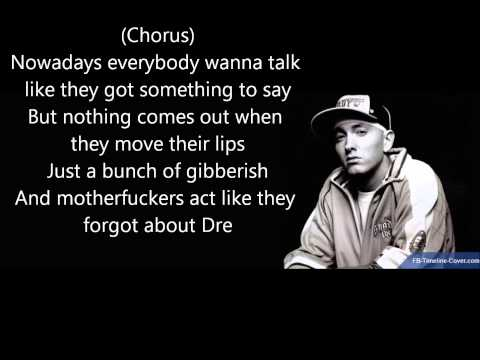 Dr Dre ft Eminem 'Forgot About Dre' Lyrics (Good Q