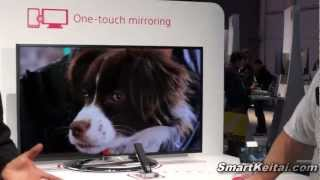 Sony Xperia Z One-Touch Mirroring via Miracast TV and NFC Remote