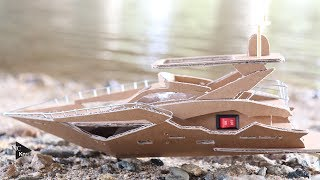 How to make boat (luxury Yacht) - Amazing Cardboard DIY