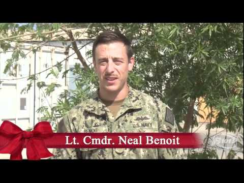 B101.5 thanks the military men and women who are currently serving their country, here in America, and all around the world. Happy Holidays from B101.5! Lt. Cmdr. Neal Benoit Stationed: Camp...