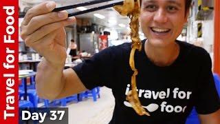 Hong Kong Food Tour - Breakfast, Bamboo Noodles Won Ton, and Chinese Dai Pai Dong Feast!