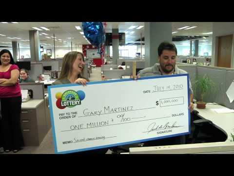 Colorado Lottery Second-Chance Drawing Winner - We Prize Surprised Gary Martinez with news that he won $1 million!