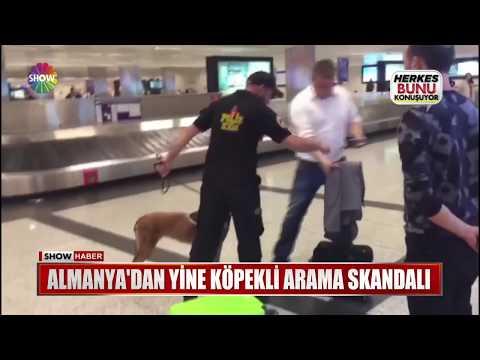 Almanya'dan yine köpekli arama skandalı