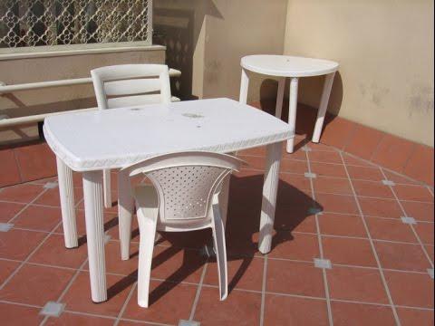 Misi n impecable limpiar mesa y sillas de pl stico youtube - Sillas para jardin de plastico ...
