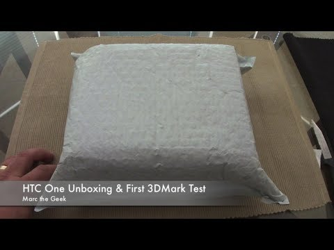 HTC One Unboxing & First 3DMark Test (T-Mobile)