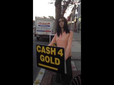Cash for gold sign