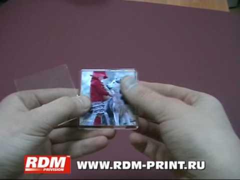 Изготовление фото-магнитов из заготовок RDM