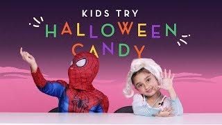 Kids Try Halloween Candy   Kids Try   HiHo Kids