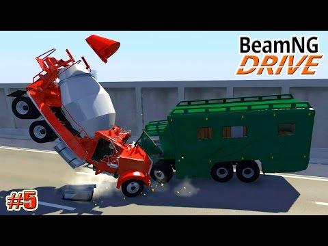 BeamNG.drive карта МАТРИЦА (Matrix Freeway) (Crash test) 5 серия