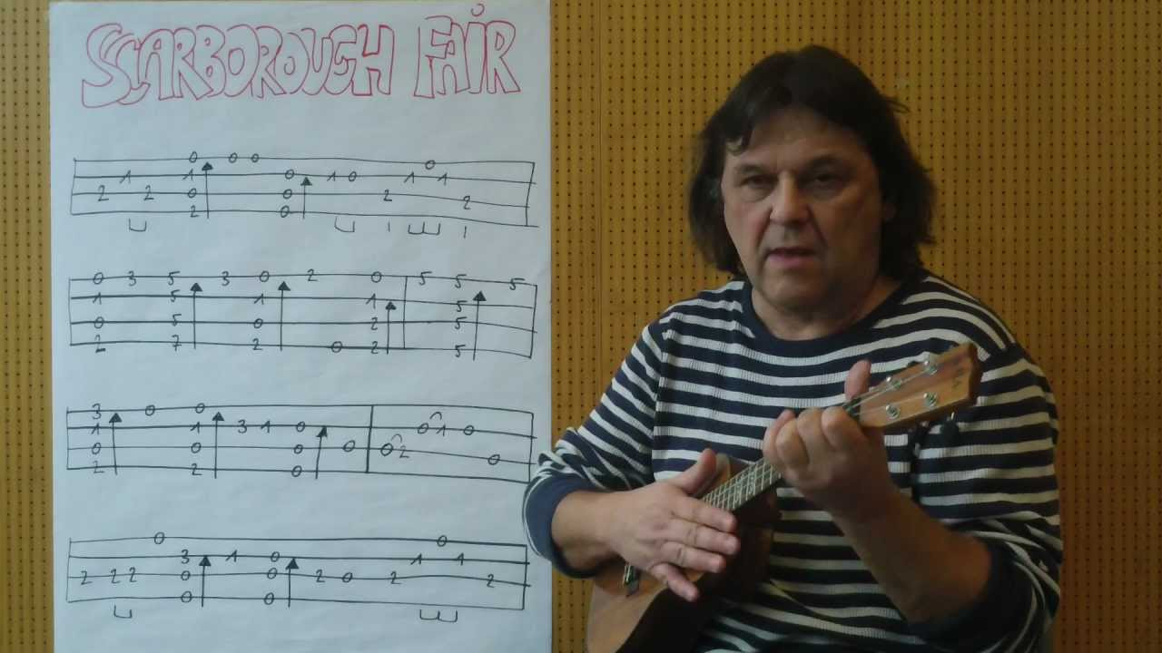 Ukulele Lesson (w/TAB) #2 : How To Play u0026quot;Scarborough Fairu0026quot; Fingerstyle - Helmut Bickel - YouTube