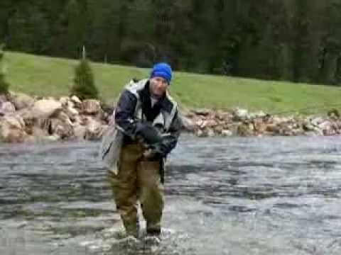 Fly Fishing Frenzy video - Aaron catching a fish on the Madison River Montana