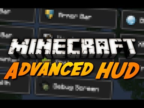 Minecraft Mod Review: ADVANCED HUD MOD! (Tweak the Health. Hunger. Armor. XP Bar & More!)