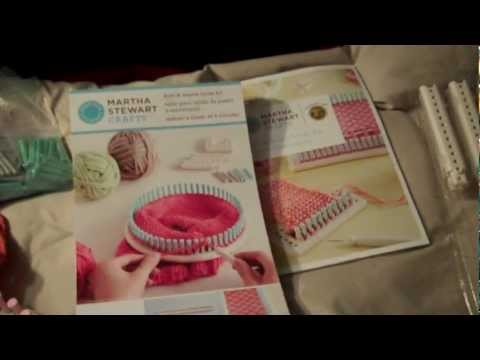 Review of Martha Stewart Knitting & Weaving Loom Kit