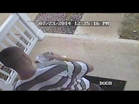 Homeowner Tracks Down Alleged Package Thief From Home Security Video