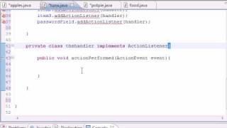 Java Programming Tutorial - 53 - ActionListner