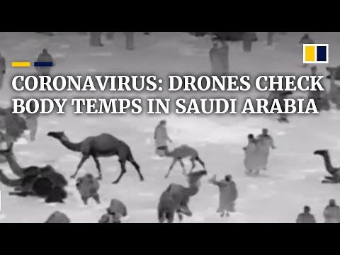 Download  Coronavirus: Saudi Arabia uses drones to check body temperatures in the street Gratis, download lagu terbaru