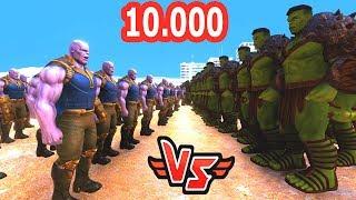 10.000 HULK VS 500 THANOS 😱 - Süper Kahramanlar
