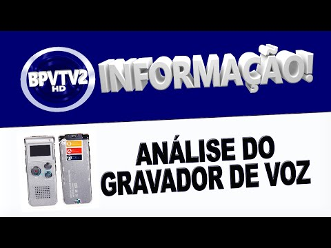 Análise do Gravador de Voz Digital Voice Recorder