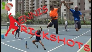 Tennis Players Do Trickshots | Insane Tennis Trickshots
