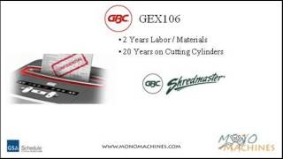 GBC ShredMaster GEX106 Jam Free Cross-Cut Shredder - Warranty