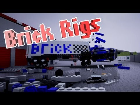 LEGO DESTRUCTION - Brick Rigs Workshop Creations - Police Car, Tank, Land Rover Gameplay Highlights