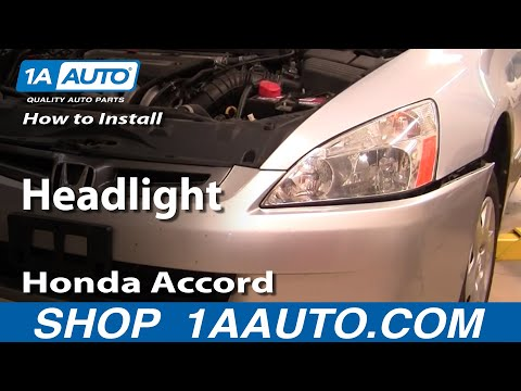 How To Install Replace Headlight Honda Accord 03-07 - 1AAuto.com
