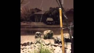 Snow in Vegas? Crazy!  #VegasSnow @Summerlin, Las Vegas