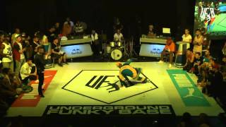 underground funky base vol 8 world final 1 vs 1 b-boy semi-final (airdit vs santa)