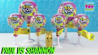 Paul vs Shannon Pikmi Pops Challenge Blind Bag Toy Review | PSToyReviews