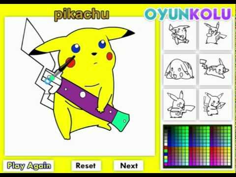 Pikachu Boyama Oyunu Nas�l Oynan�r