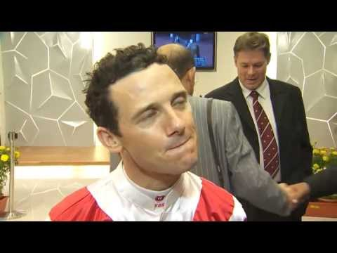 2013 Singapore winning jockey Brett Prebble Lucky Nine KrisFlyer Sprint