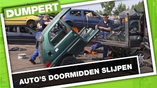 Auto's doormidden slijpen | DUMPERT SCHROOTHOOP (II) CHALLENGE MET MASTERMILO