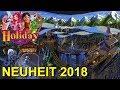 """Holiday Park Neuheit 2018 - Neue Achterbahn & Indoor Themenwelt """"Holiday Indoor"""" im Holiday Park"""