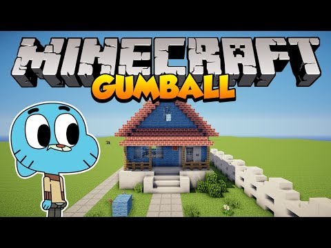Minecraft: Como construir a casa do Gumball The Amazing World of Gumball