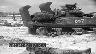 INVASION OF EUROPE - NORMANDY - 1944 - NO SOUND - HISTORICAL