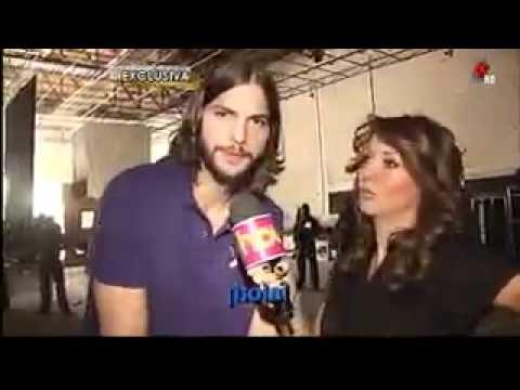 Programa Hoy Entrevista -Exclusiva- Andrea Legarreta con Ashton Kutcher