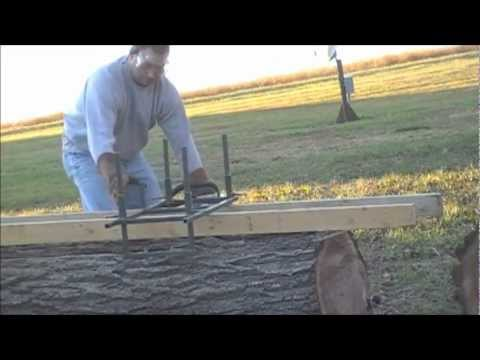Homemade Chainsaw Lumber Mill