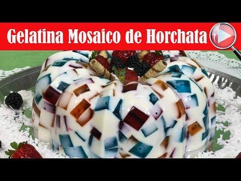 Gelatina Mosaico de Horchata - Haz una Gelatina Deliciosa - Recetas en Casayfamiliatv