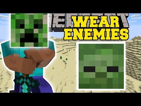 Minecraft: WEAR YOUR ENEMIES MOD (CONTROL MOBS & LEARN MOB ABILITIES!) Mod Showcase