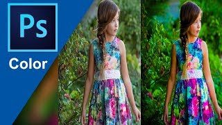 Photoshop | Tutorial For Photography - Make a Pop of Color Effects | Color Correction