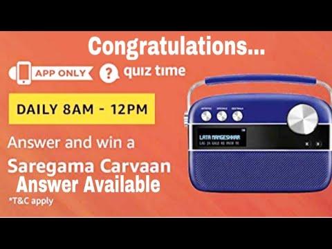 Amazon Quiz 20 November Answers Today | win Saregama carvaan music