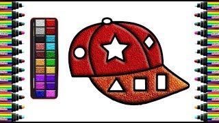 How to draw a hat for children   Drawing and coloring for children   bé yêu