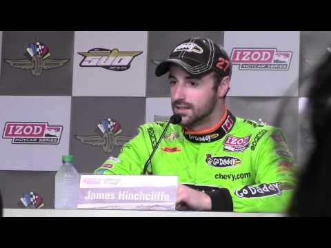 James Hinchcliffe's 2013 Indy 500 Pole Day Press Conference