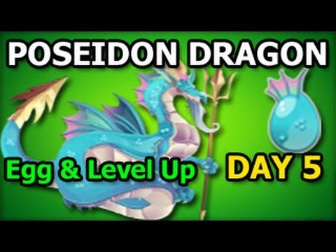 POSEIDON DRAGON Dragon City Egg and Level Up Fast Review Olympus Island