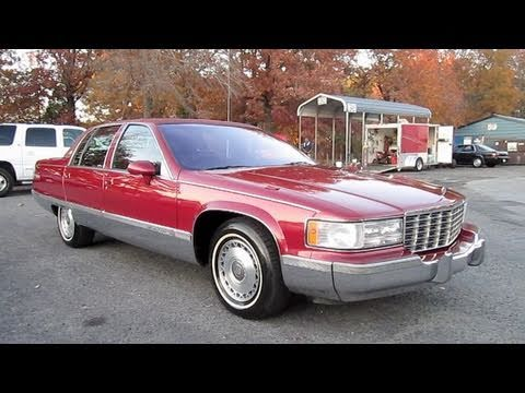 1994 Cadillac Fleetwood Brougham Start Up. Engine. and In Depth Tour