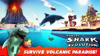 NEW HAWAII VOLCANO MAP🌋 (HUNGRY SHARK EVOLUTION)