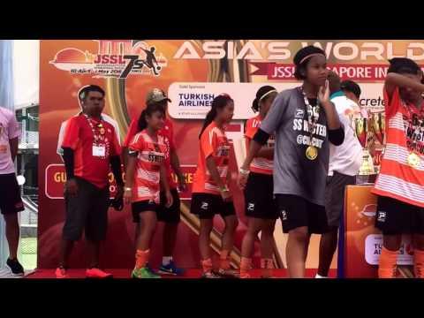 Girls 13 Cup Champions Medal Presentation - JSSL Singapore International Soccer 7's 2016