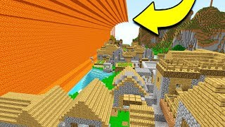 INSANE LAVA TSUNAMI DESTROYS MINECRAFT CITY!