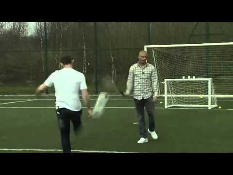 Wayne Rooney vs Wes Brown football challenge