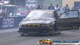 QUEEN ST RACING PAC PERFORMANCE 20B 24K GOLD BMW DEBUT AT SYDNEY DRAGWAY 12.9.2014